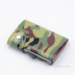 C-Secure turvalompakko Print Wallet, camouflage green