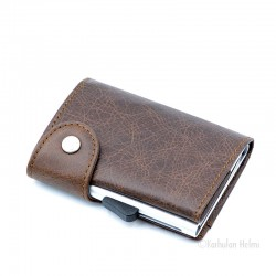 C-Secure turvalompakko Single Wallet, dark brown