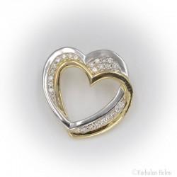 Kultainen sydän -riipus timanteilla