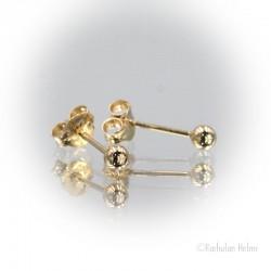 Kultaiset pallokorvakorut 3 mm