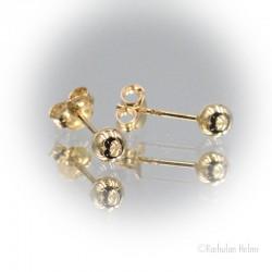Kultaiset pallokorvakorut 4 mm