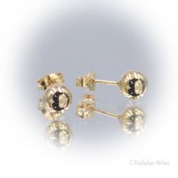 Kultaiset pallokorvakorut 6 mm